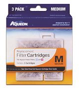 All Glass Aquarium Aqueon Cartridge Medium 3 pack