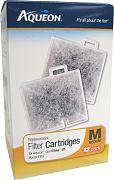 All Glass Aquarium Aqueon Filter Cartridge Medium 12 Pack