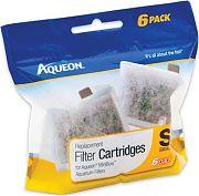 All Glass Aquarium Aqueon Filter Cartridge Small 6 Pack
