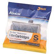 All Glass Aquarium Aqueon Mini Bow Filter Cartridge 2.5 & 5 3 Pack