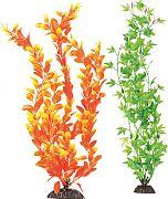 Aquatop Multi-Colored Aquarium Plant Orange/Green 15 Inch/2 Pack