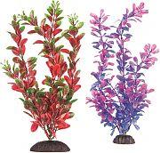Aquatop Multi-Colored Aquarium Plant Pur/Pnk-Grn/Red 10 Inch/2 Pack