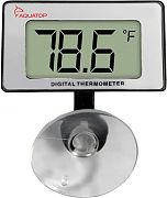 Aquatop Submersible Thermometer With Digital Display White