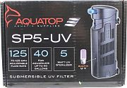 Aquatop Submersible UV Filter Black 70-125 Gph