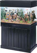 Aqueon Classic Pine Stand Black 18x36 In