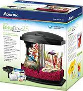 Aqueon Led Betta Bow Desktop Kit Aquarium Black 2.5 Gallon