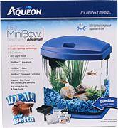 Aqueon Led Mini Bow Aquarium Kit Blue 1 Gallon
