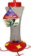Aububon/Woodlink Feeder Hummingbird Plastic Red/Clear 20 Oz
