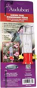 Aububon/Woodlink Garden Stake Hummingbird Feeder Red 3 Ounce
