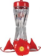 Aububon/Woodlink Glass Swirl Hummingbird Feeder Red 8 Ounce