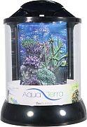 Bio Bubble Aqua Terra With 3d Coral Background Aquarium Black 1 Gallon
