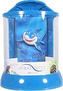 Bio Bubble Aqua Terra With 3d Shark Background Blue 2 Gallon
