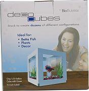 Bio Bubble Decocubes Decorative Aquarium/Terrarium White 1pack/6x6x6inch