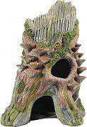 Bio Bubble Old Log Hide - Vertical Aquarium Ornament 7.1x5.9x10.2in