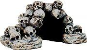 Bio Bubble Skull Pile Hide Cave Aquarium Ornament 8.3x5.9x4.3in