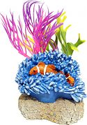 Blue Ribbon Exotic Environments Aquatic Scene With Clownfish Multi Small