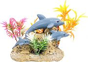 Blue Ribbon Exotic Environments Aquatic Scene With Dolphins Multi Small