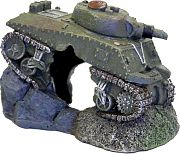 Blue Ribbon Exotic Environments Army Tank With Cave