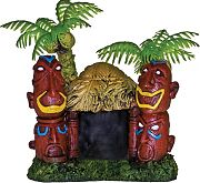 Blue Ribbon Exotic Environments Betta Hut With Two Palm Trees