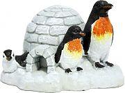 Blue Ribbon Exotic Environments Penguin Island White/Black Small