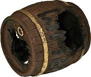 Blue Ribbon Exotic Environments Rum Barrel Horizontal Brown Small