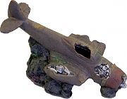 Blue Ribbon Exotic Environments Sunken Wwii Plane With Cave Brown