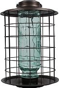 Classic Brands More Birds Caged Songbird Vintage Feeder Pewter 1.5 Lb Capacity
