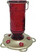 Classic Brands Vintage Glass Hummingbird Feeder