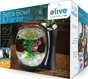 Elive Betta Bowl And Planter Black .75 Gallon