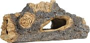 Elive Rough Hollow Log Ornament Brown 8 Inch