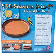 Farm Innovators All Seasons 3-In-1 Heated Birdbath Terra Cotta