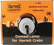 Flukers Hermit Headquarters Hermit Crab Domed Lamp Black 5.5 Inch