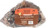 Flukers Hermit Headquarters Hermit Crab Rock Feeding Dish Gray Small
