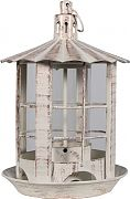 Heath Parkview Lantern Feeder Antique White 7.13x7.13x10.75