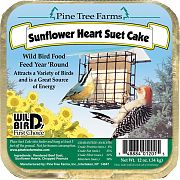 Pine Tree Sunflower Hearts Suet Cake