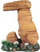 Poppy Pagoda Rock Formation With Plant Brown 6x4x8