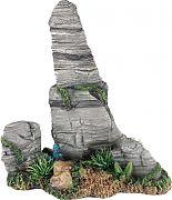 Poppy Pagoda Rock Formation With Plant Grey 8x5x8