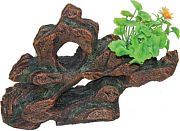 Poppy Stone Rock Formation With Plant Brown 12x3x11
