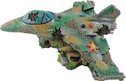 Poppy Sunken Camo Fighter Jet 13x11x5