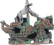 Poppy Sunken Shipwreck 8x3x7