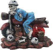 Poppy Underwater Motorcycle Skull 6x3x5
