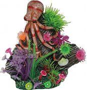 Poppy Underwater Octopus On Reef Orange 6x4x6