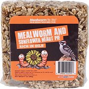 Unipet USA Mealworm To Go Mealworm & Sunflower Heart Pie
