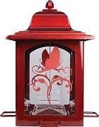 Woodstream Lantern Bird Feeder Red 3 Pound Capac