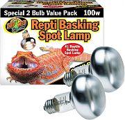 Zoo Med Basking Spot Lamp 2 Pack 100 Watt