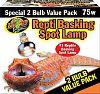 Zoo Med Basking Spot Lamp 2 Pack 75 Watt