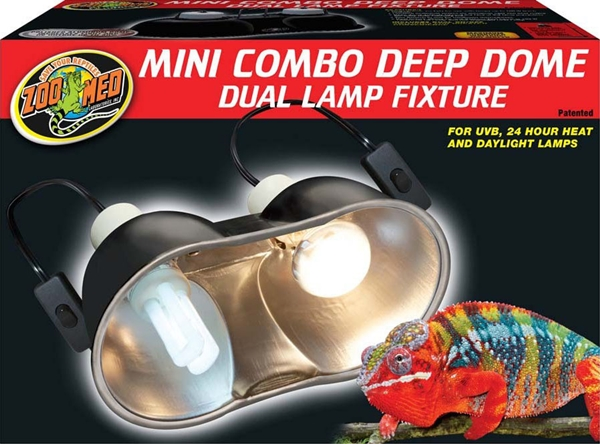 zoo med combo deep dome lamp fixture zoo med lf19 dome light